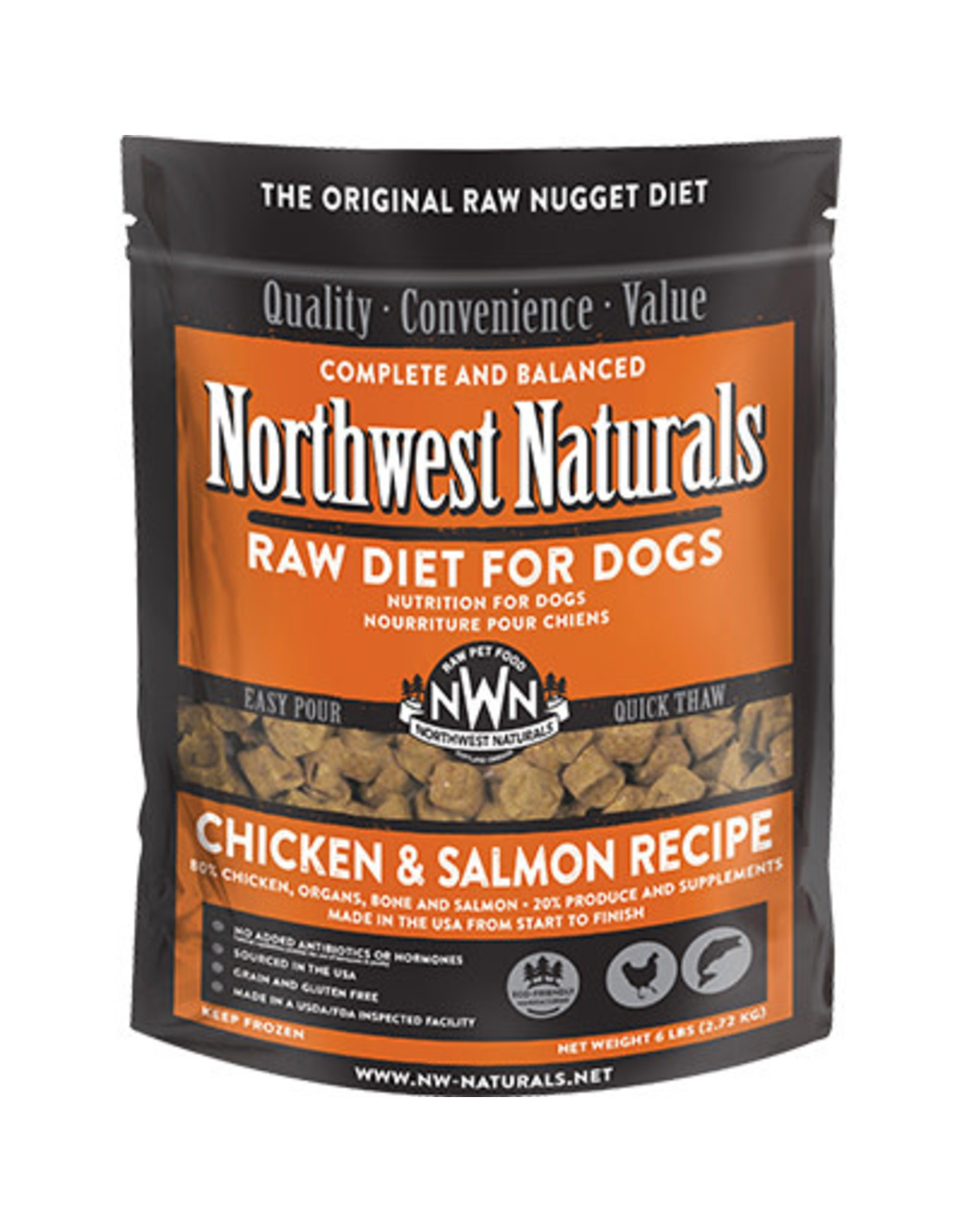 Northwest Naturals Northwest Naturals Raw Diet for Dogs Freeze Dried Nuggets Chicken & Salmon Recipe 12oz
