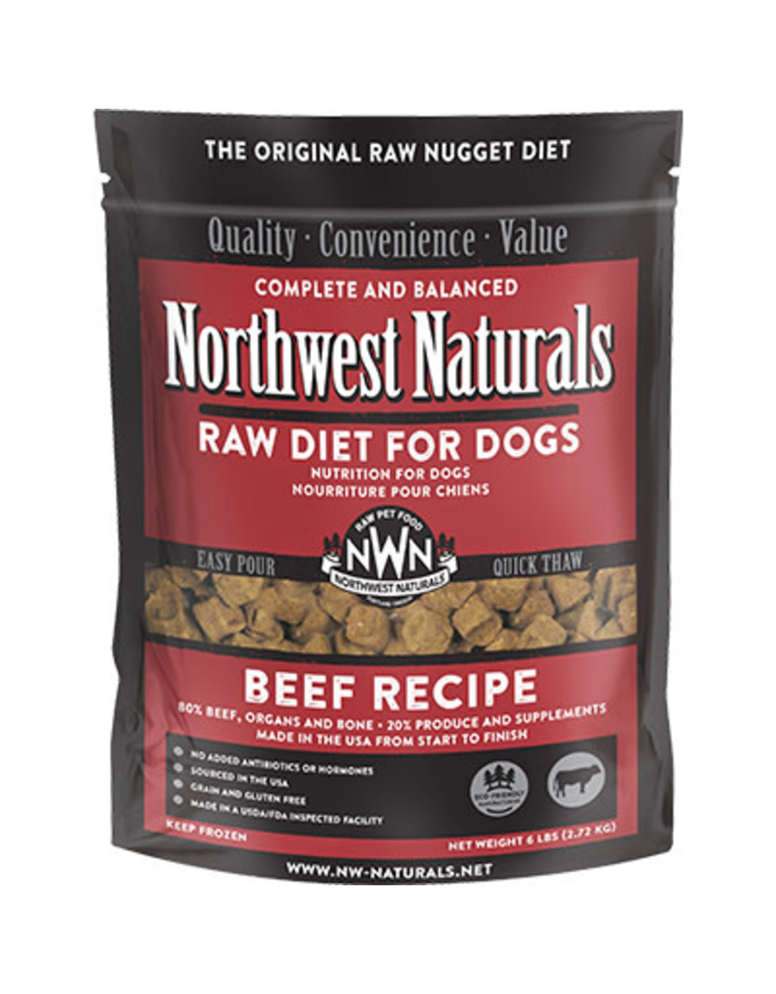 Northwest Naturals Northwest Naturals Raw Diet for Dogs Freeze Dried Nuggets Beef Recipe 12oz