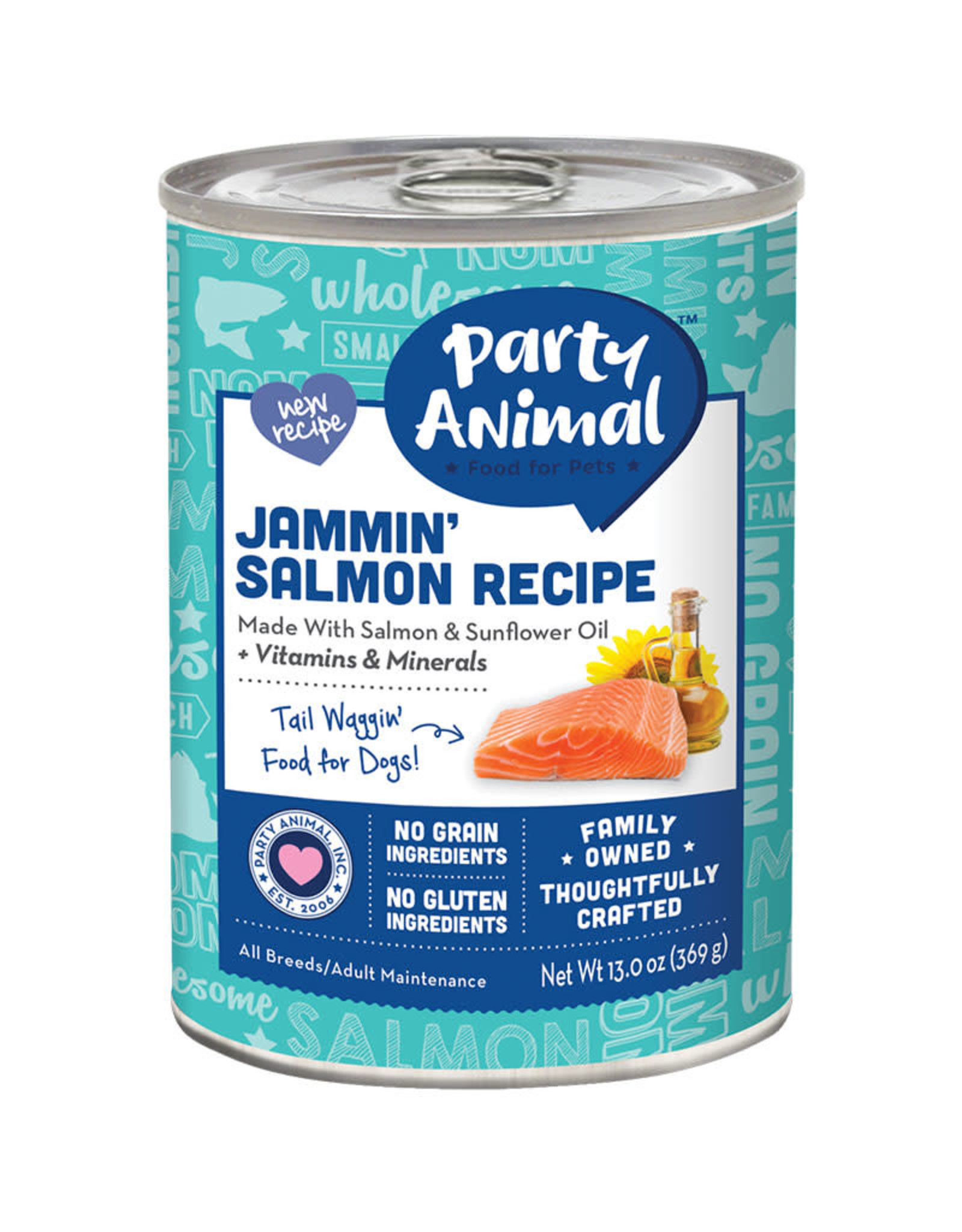 Party Animal Party Animal Jammin Salmon Recipe Dog Food 13oz