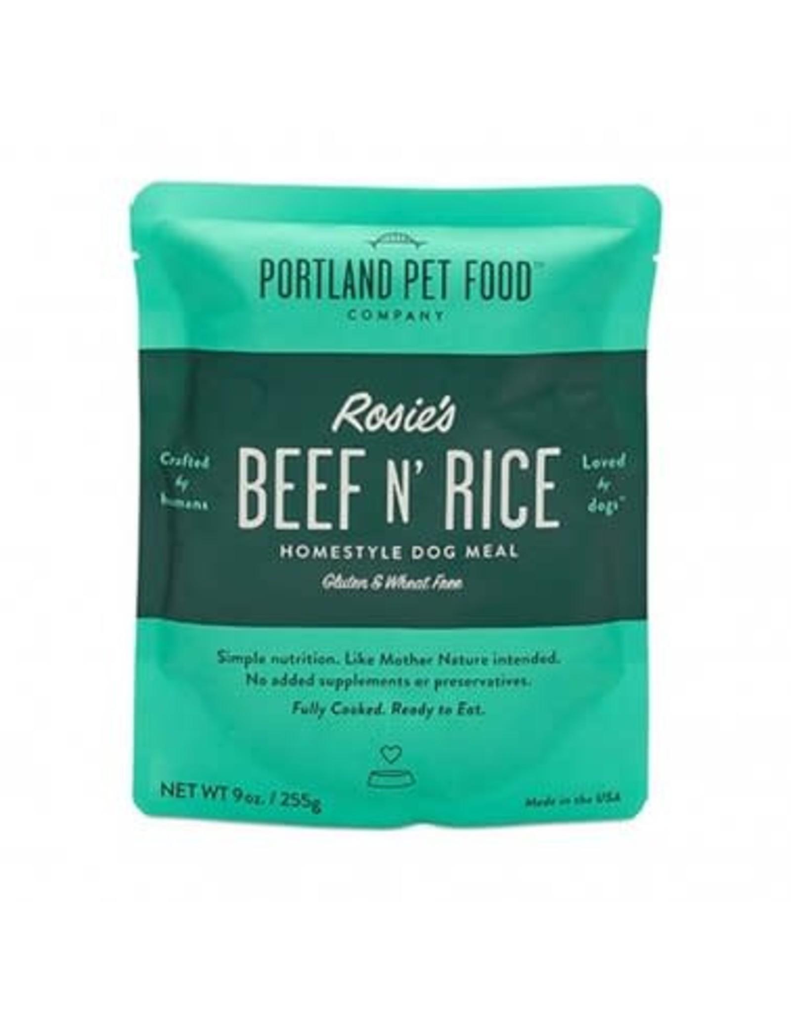 Portland Pet Food Portland Pet Foods Rosie's Beef & Rice Homestyle Dog Meal 9oz