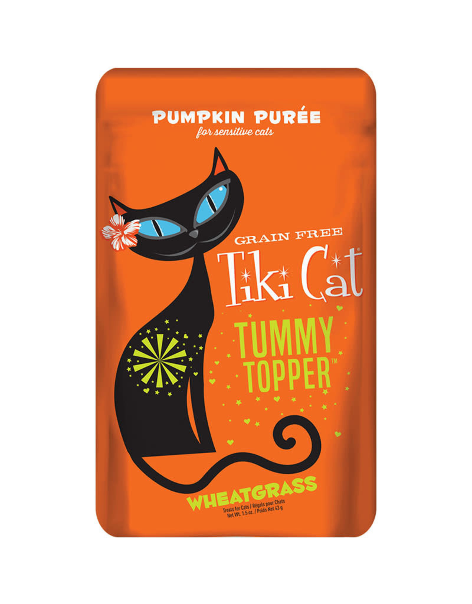 Tiki Cat Tiki Cat Tummy Topper Pumpkin Puree w/Wheatgrass 1.5oz