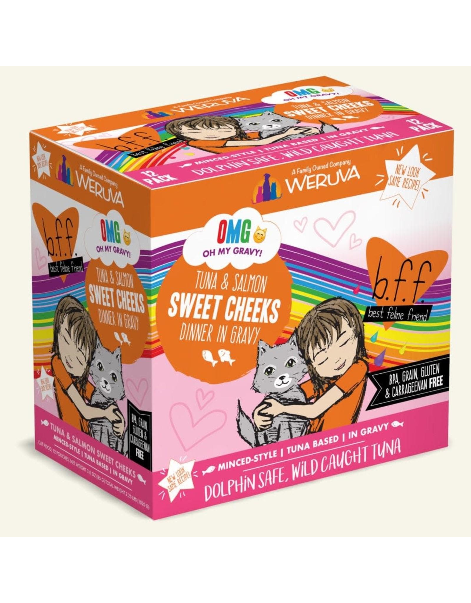 Weruva Weruva BFF OMG! Sweet Cheeks Tuna & Salmon Dinner in Gravy Cat Food 3oz Pouch
