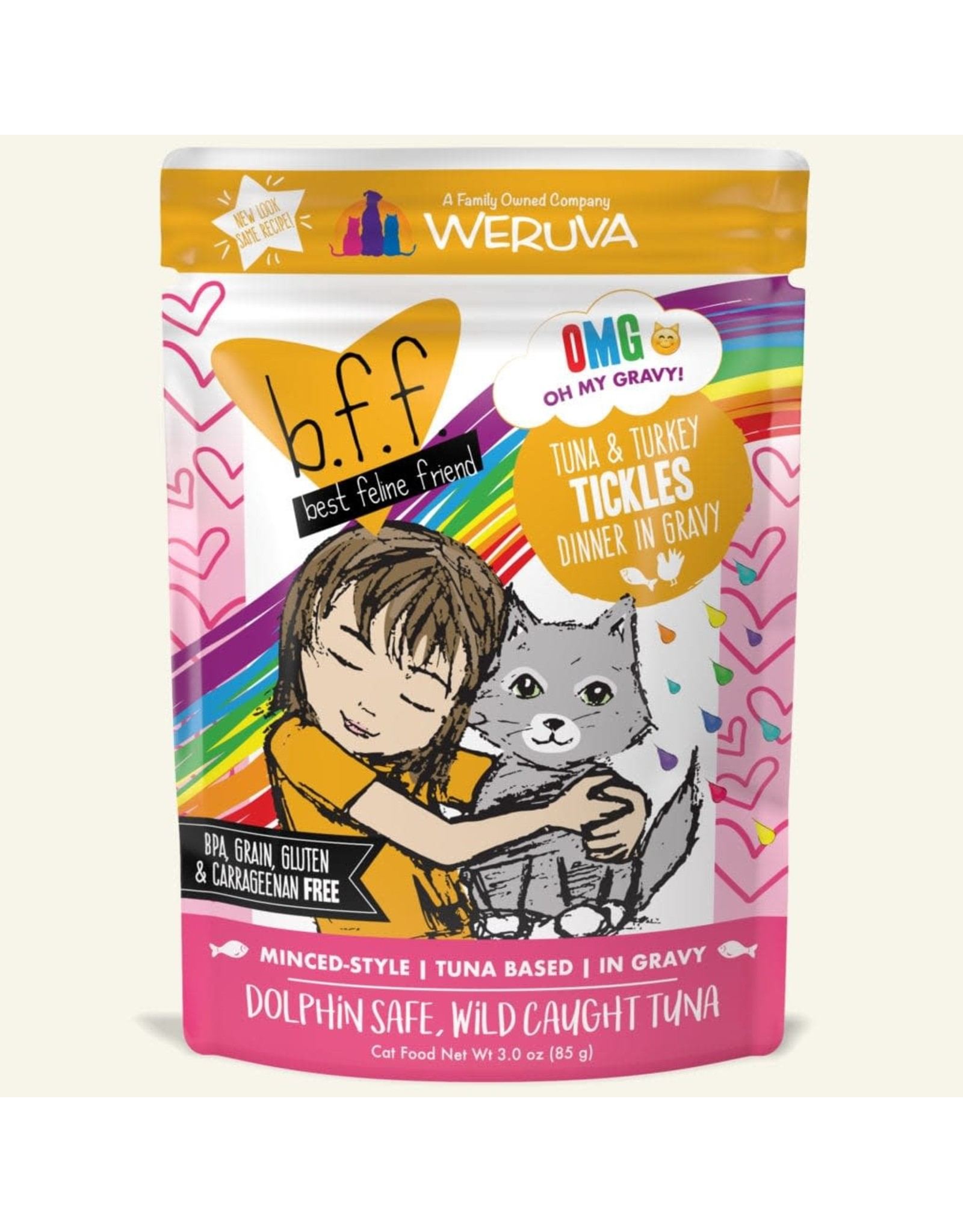 Weruva Weruva BFF OMG! Tickles Tuna & Turkey Dinner in Gravy Cat Food 3oz Pouch