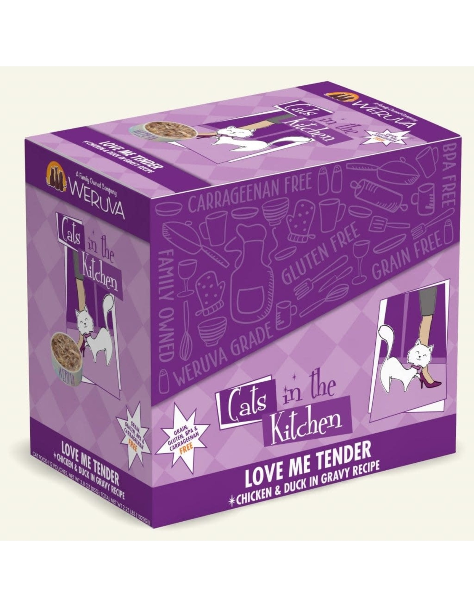 Weruva Weruva Cats in the Kitchen Love Me Tender Chicken & Duck in Gravy Cat Food 3oz Pouch
