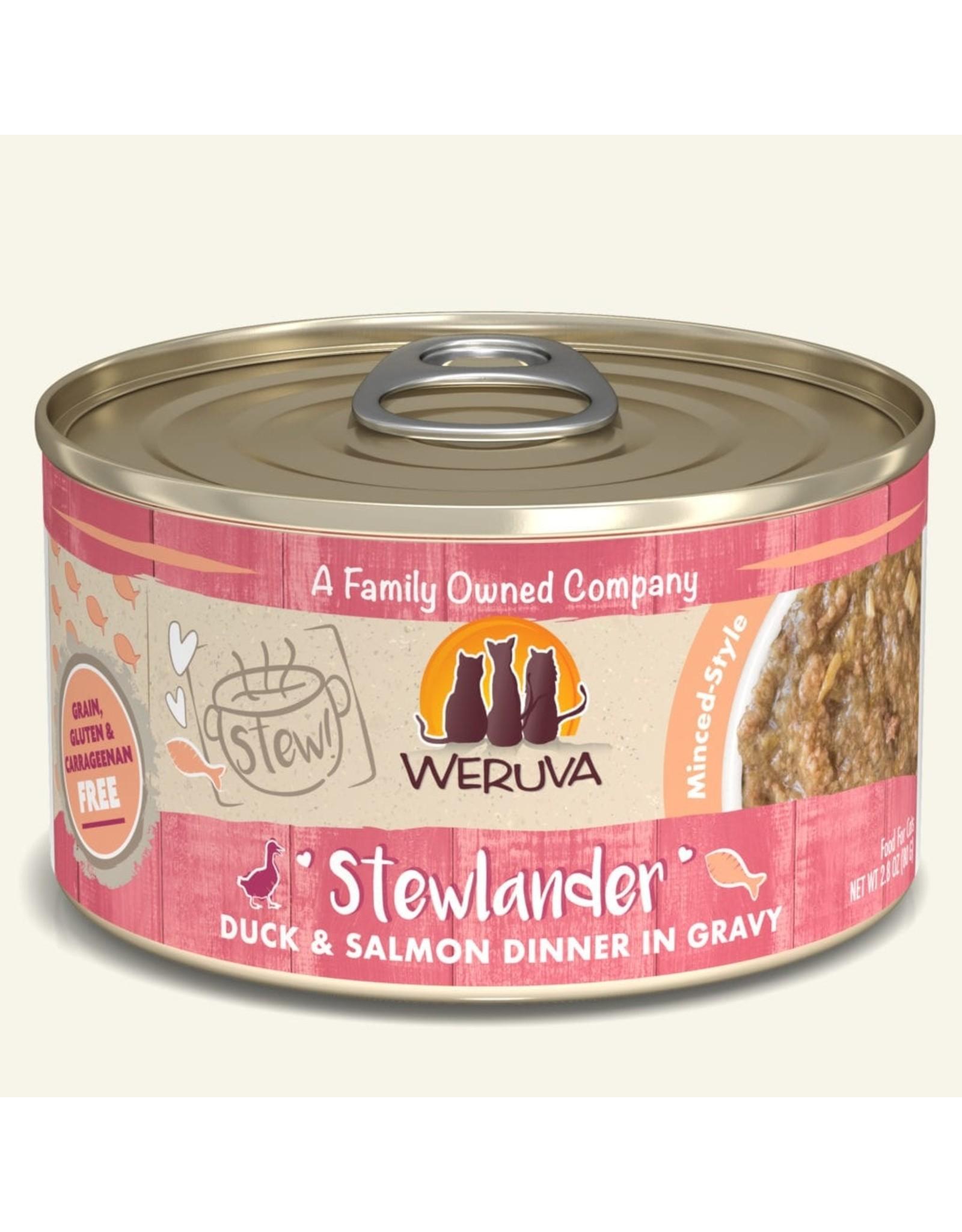 Weruva Weruva Stewlander Duck & Salmon Dinner in Gravy Cat Food 2.8oz
