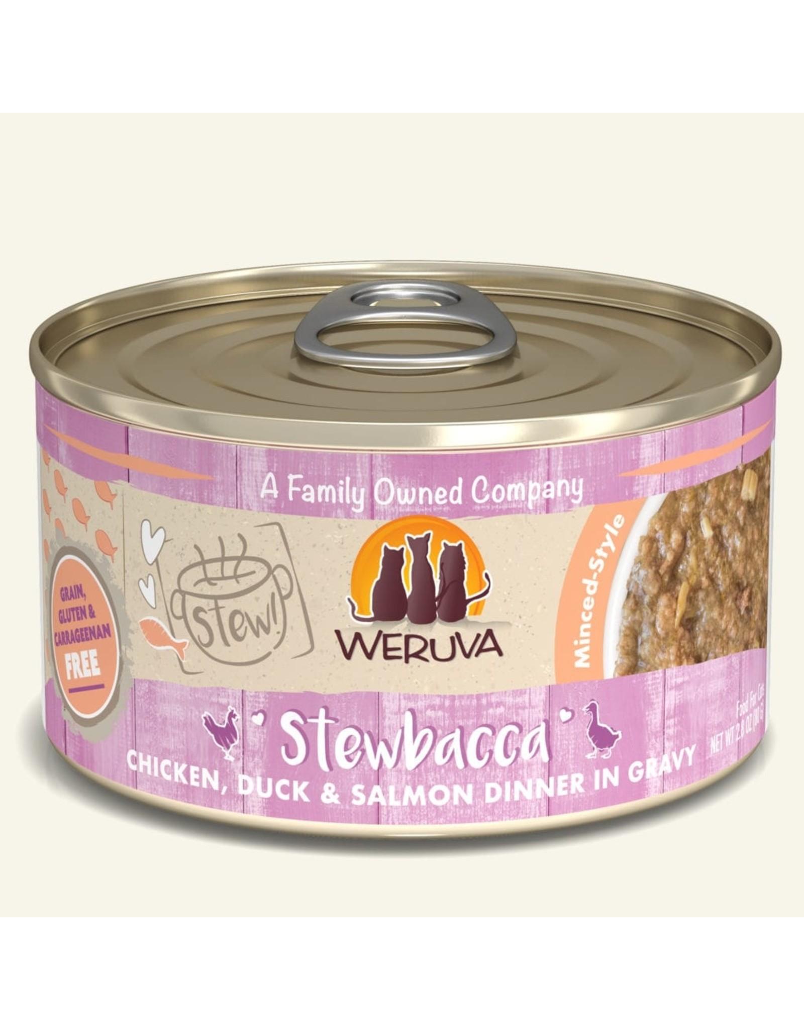 Weruva Weruva Stewbacca Chicken, Duck & Salmon Dinner in Gravy Cat Food 2.8oz