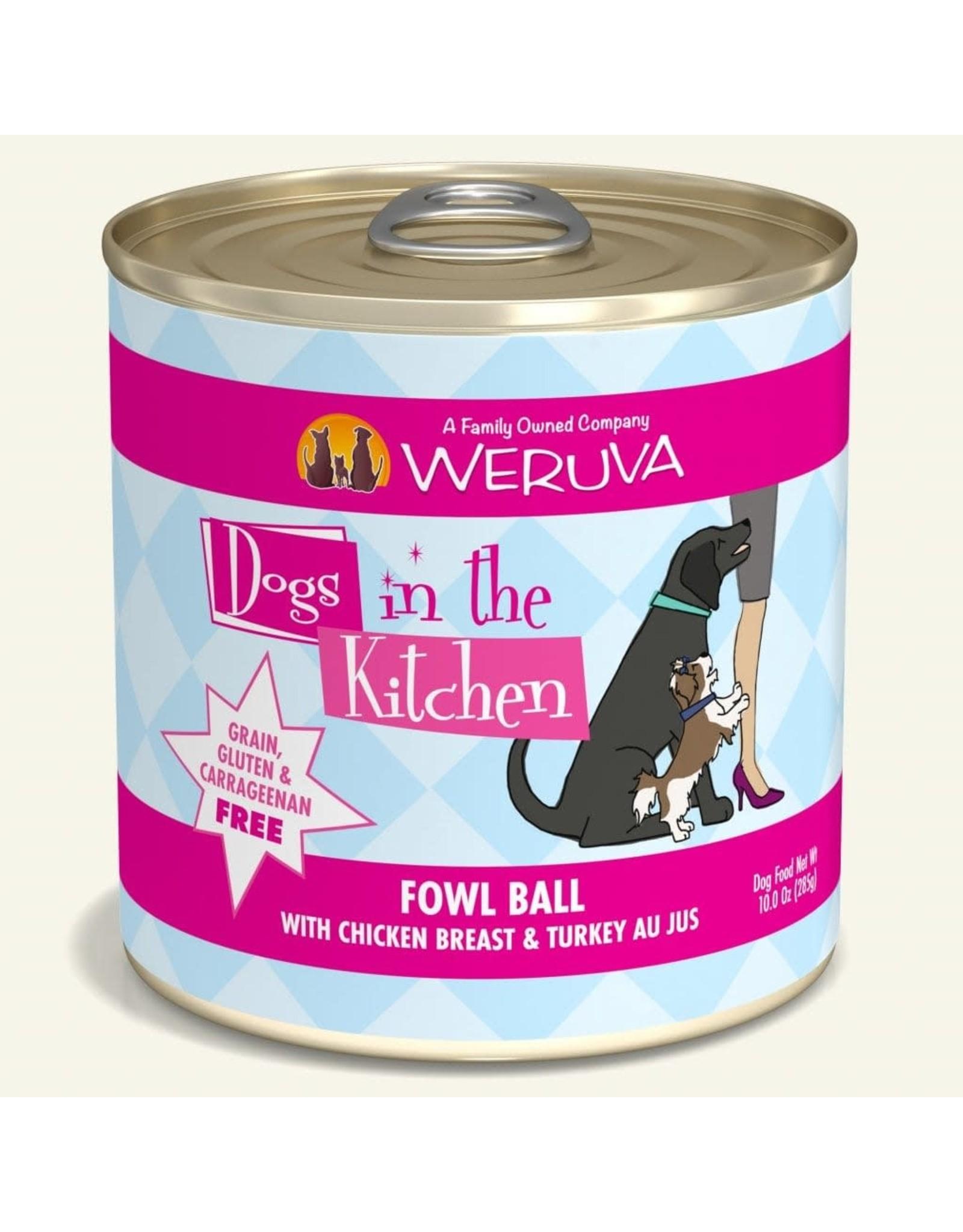 Weruva Weruva Dogs in the Kitchen Fowl Ball Chicken & Turkey Au Jus Dog Food 10oz