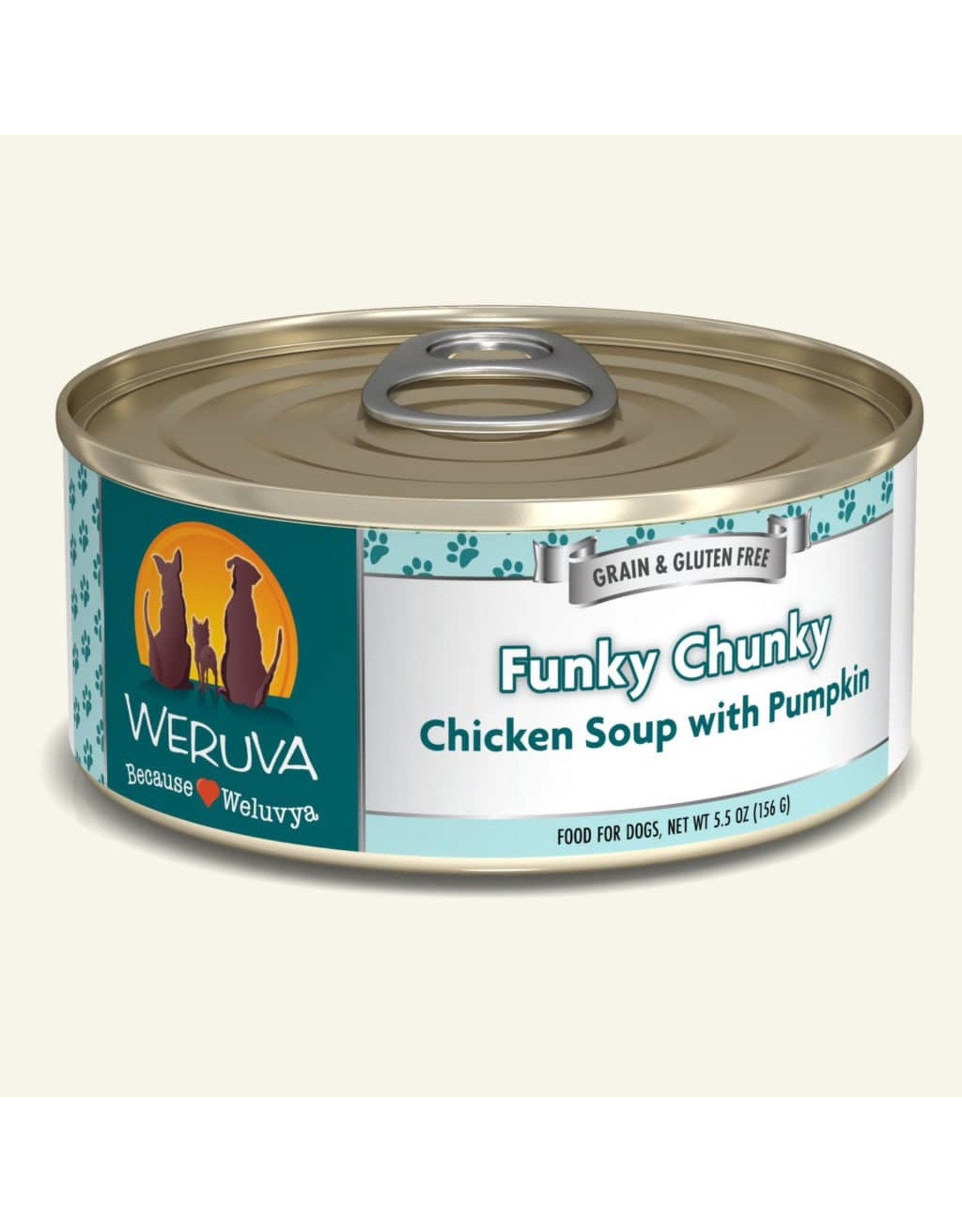 Weruva Weruva Funky Chunky Chicken Soup with Pumpkin Dog Food 5.5oz