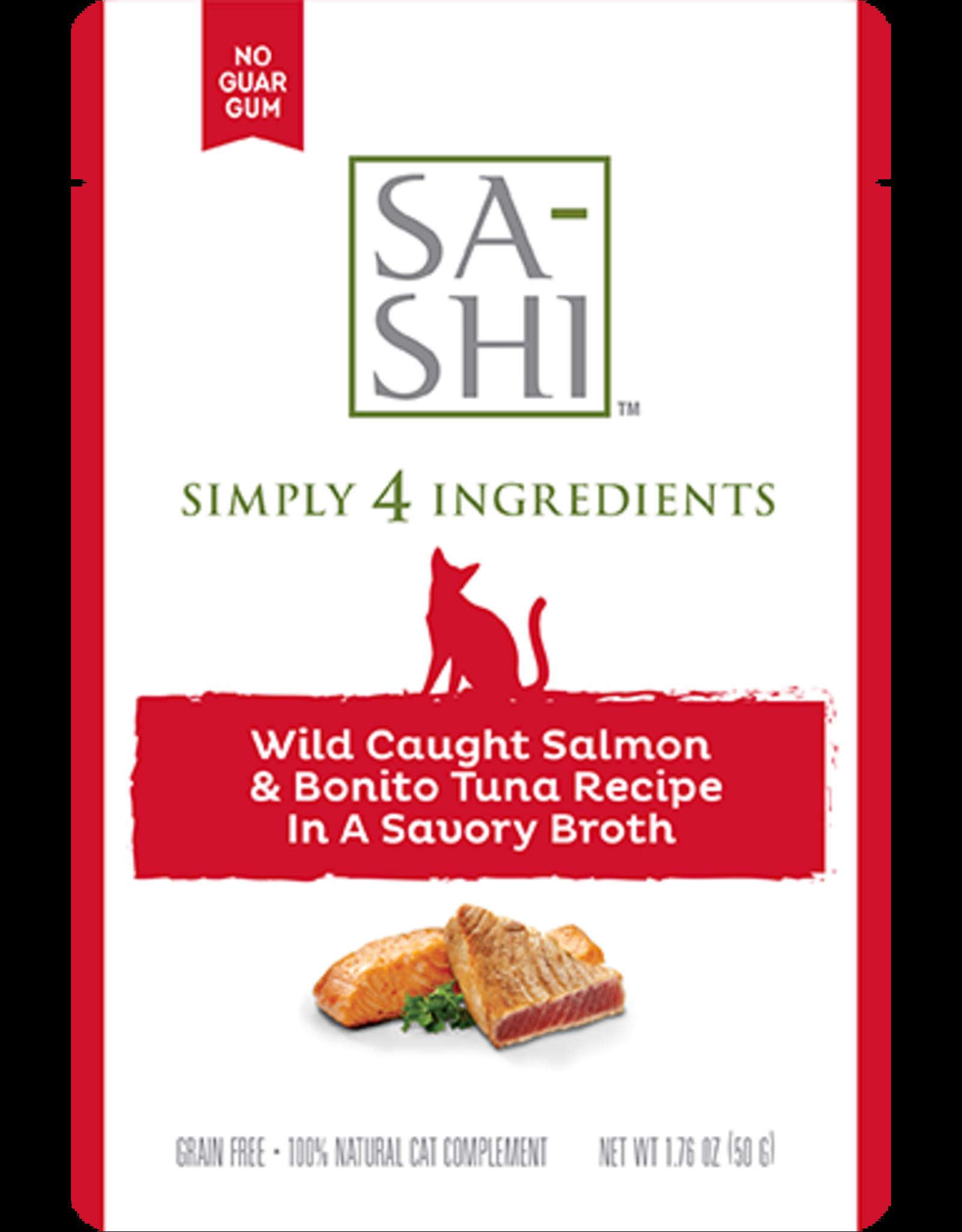 Rawz Rawz Sa-Shi Wild Caught Salmon & Bonito Tuna Recipe Cat Food 1.76oz