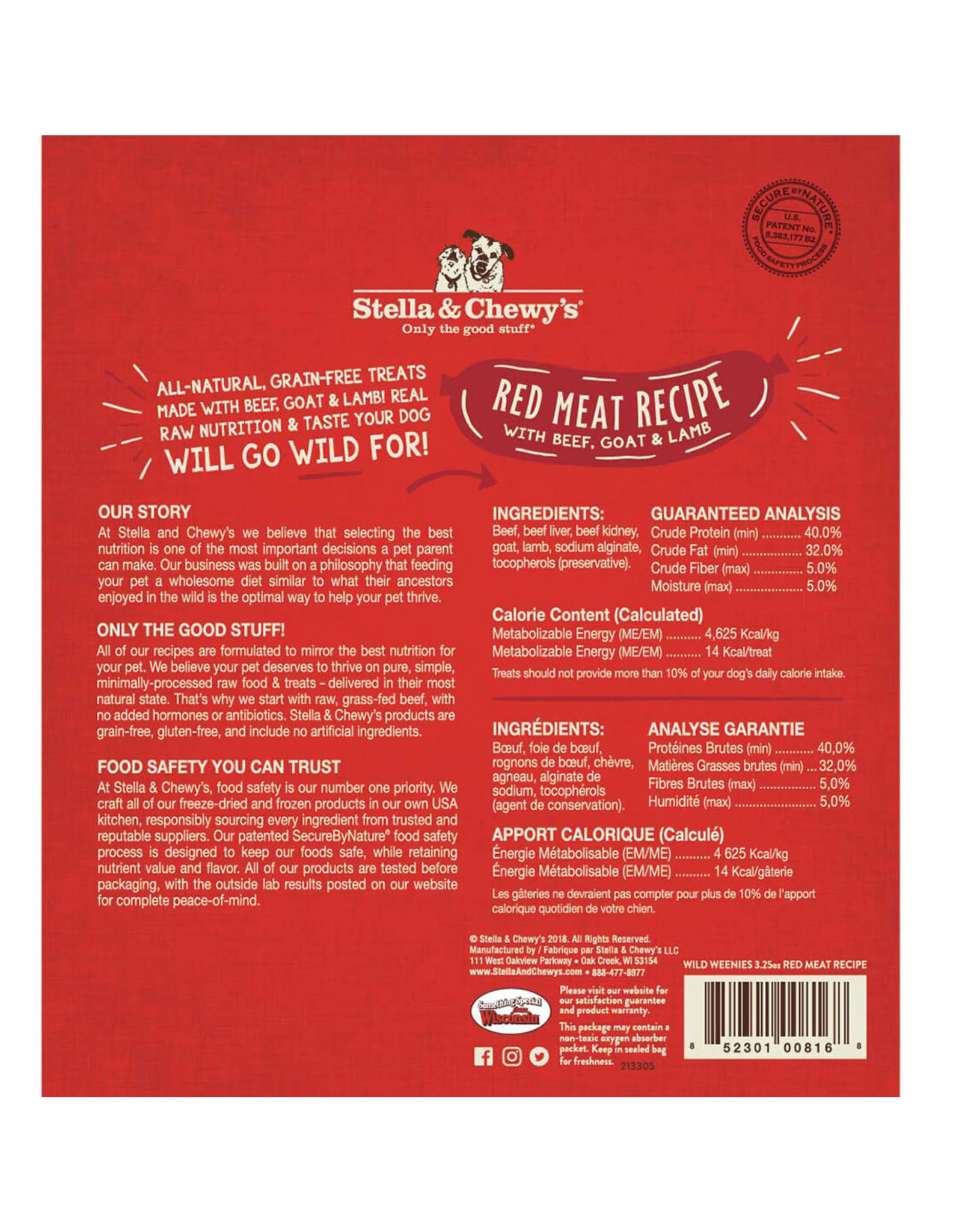Stella & Chewy's Stella & Chewy's Wild Weenies Dog Treats Red Meat Recipe 3.25oz