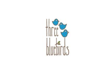 Three Bluebirds