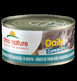 Almo Nature Almo Nature HQS Daily Complete Tuna w/Mackerel in Broth Cat Food 2.47oz