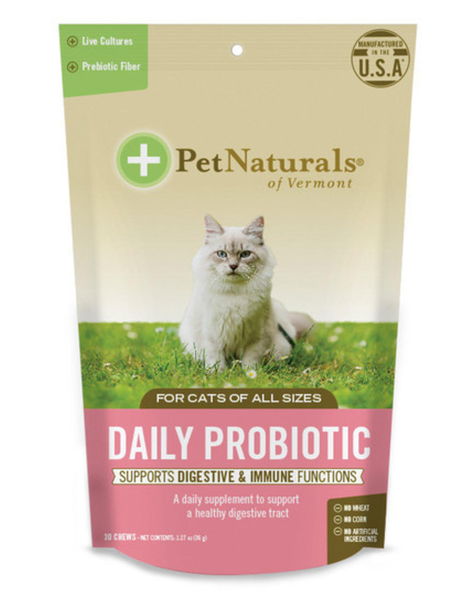 Pet Naturals of Vermont Cat Daily Probiotics 30ct
