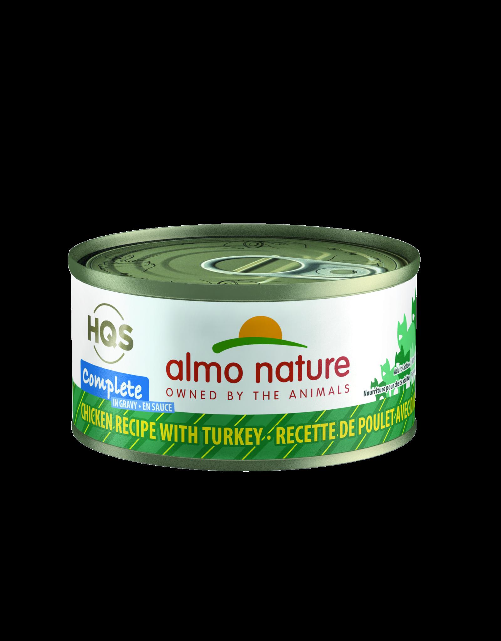 Almo Nature Almo Nature HQS Complete Chicken Recipe w/Turkey Cat Food 2.74oz