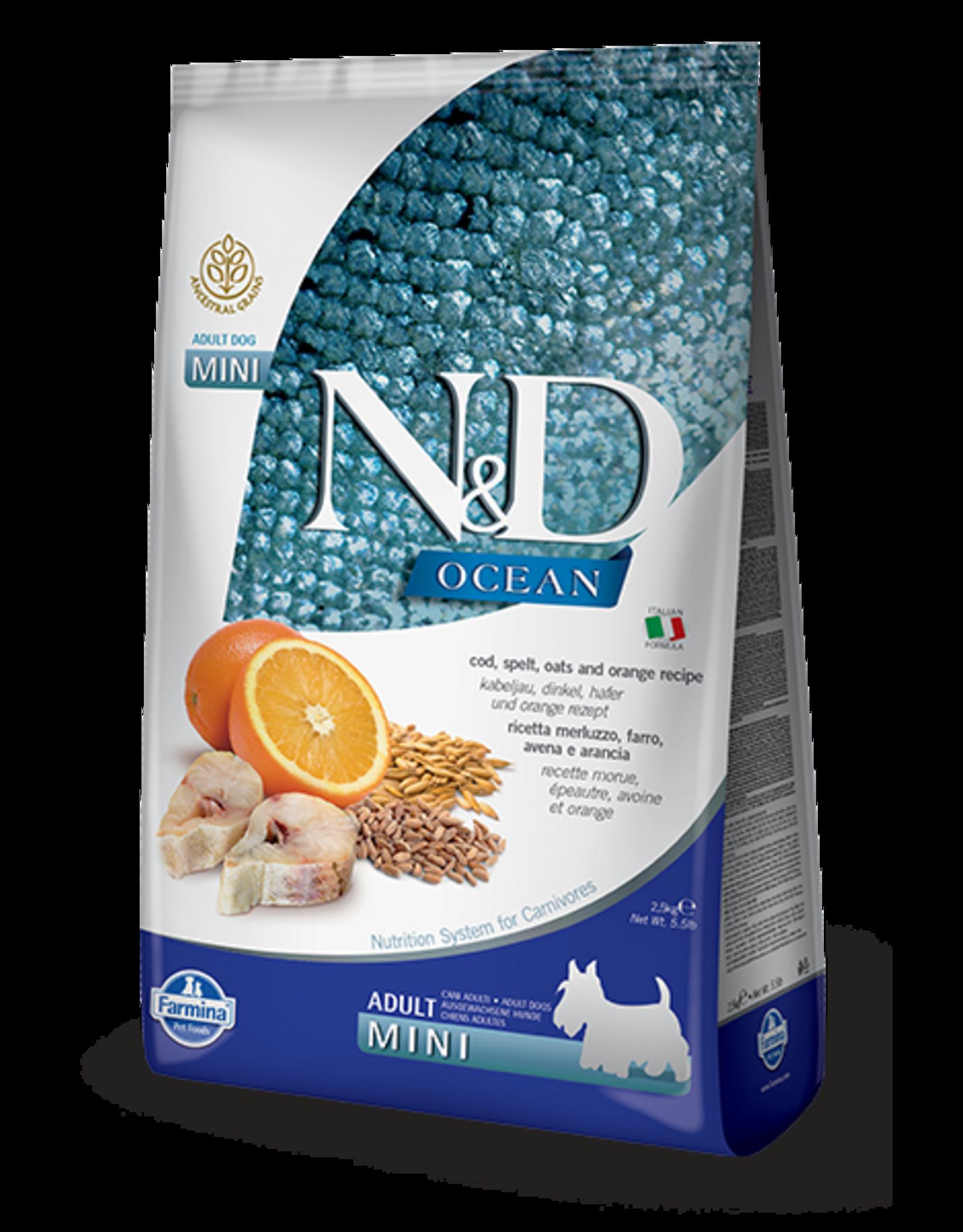 Farmina N&D Farmina N&D Ocean Cod, Spelt, Oats & Orange Recipe Adult Mini Dog Food 5.5lb