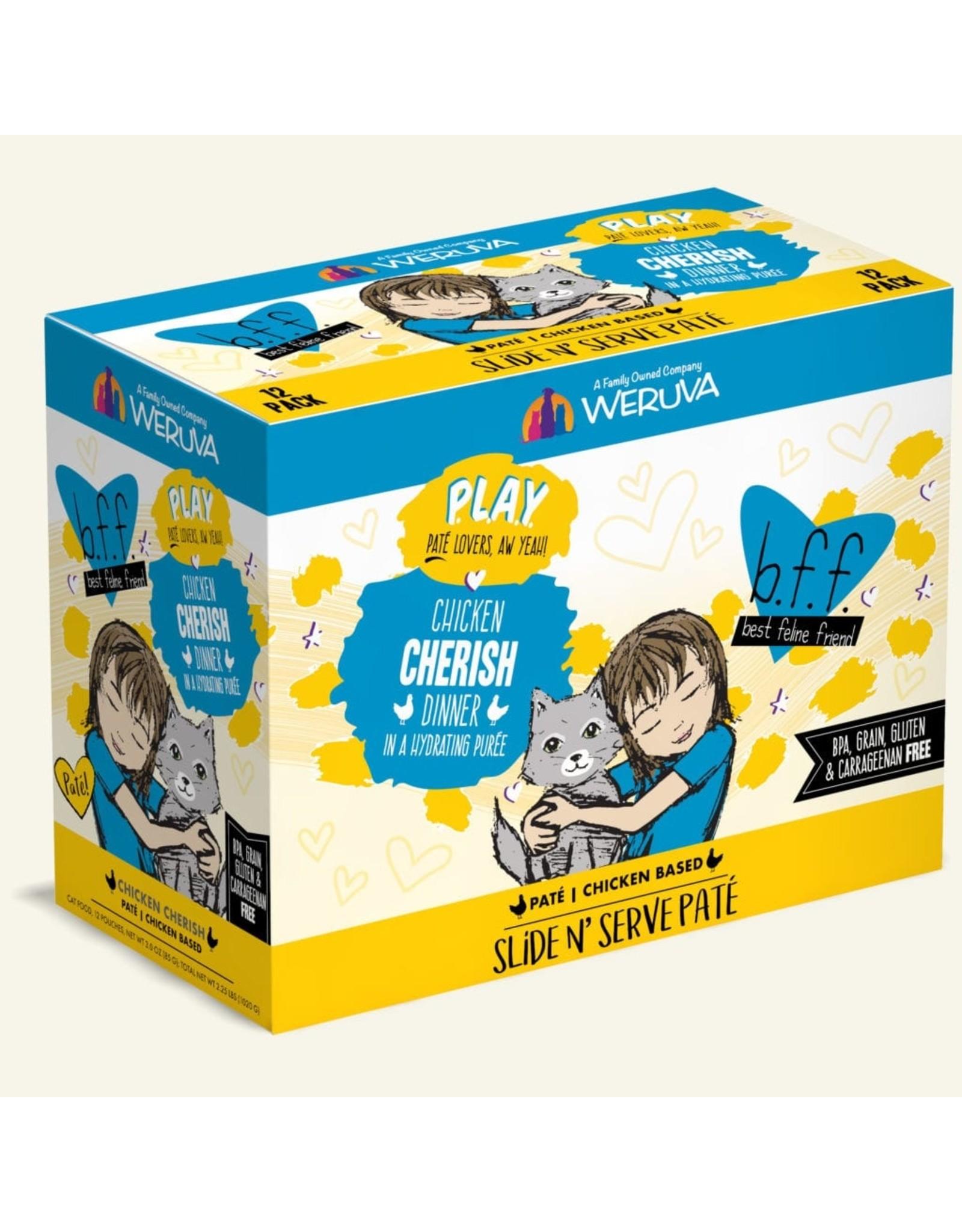 Weruva Weruva BFF PLAY Cherish Chicken Dinner Slide N' Serve Pate Cat Food 3oz Pouch