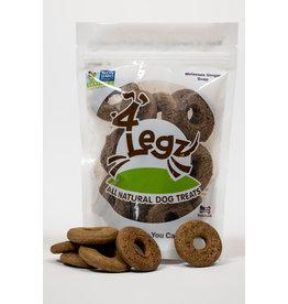 "4Legz 4Legz Molasses Ginger Snap ""Dognutz"" Dog Treats 7oz"