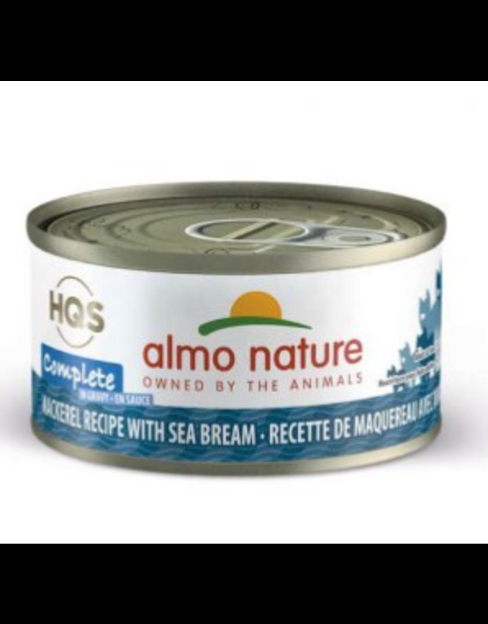 Almo Nature Almo Nature HQS Complete Mackerel Recipe w/ Sea Bream in Gravy Cat Food 2.47 Oz