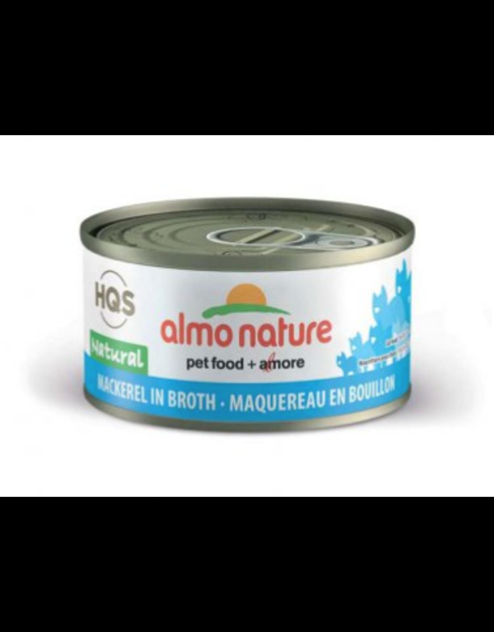 Almo Nature Almo Nature HQS Natural Mackerel in Broth Cat Food 2.47 Oz