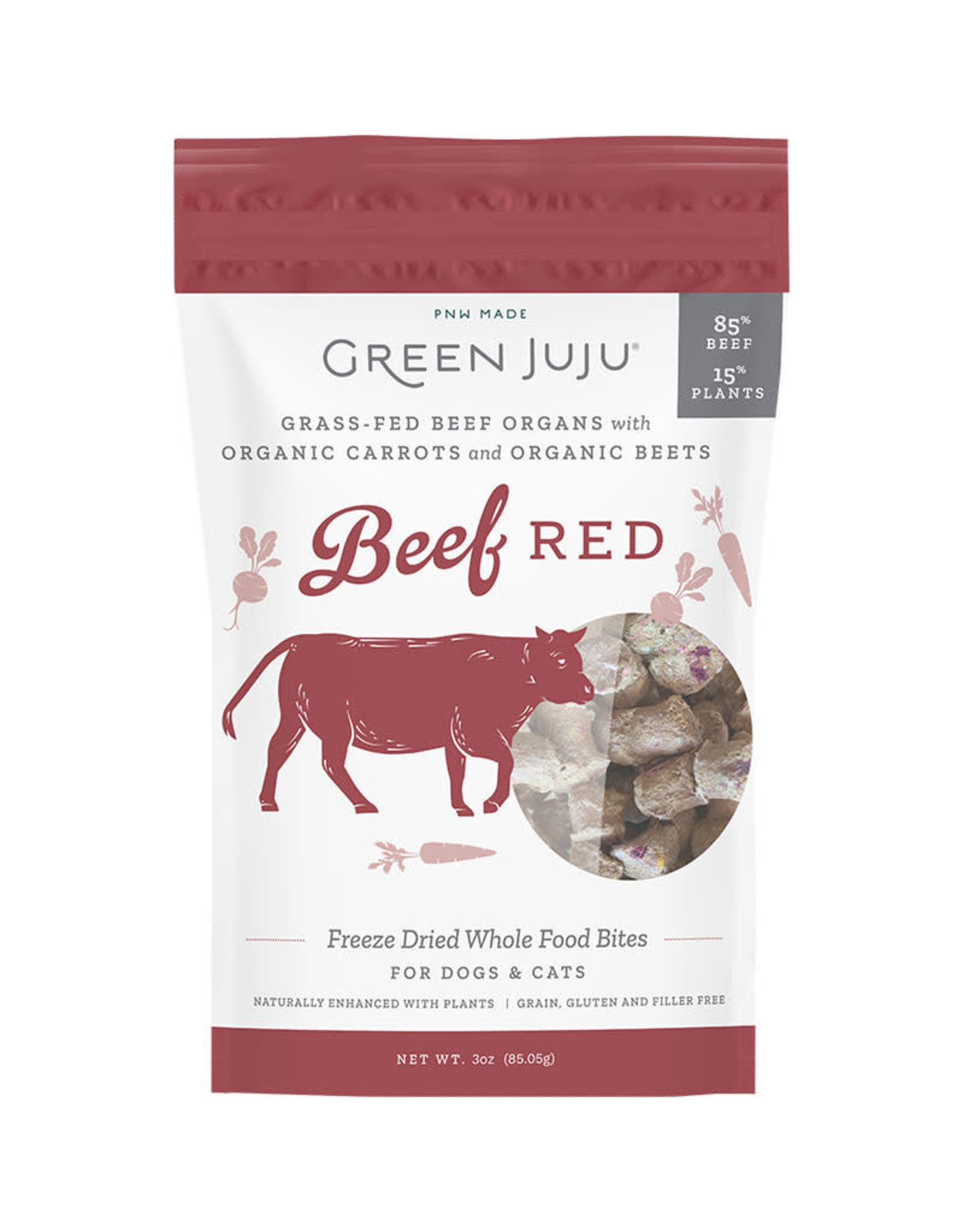 Green Juju Green Juju Beef Red Freeze Dried Whole Food Bites for Dogs & Cats