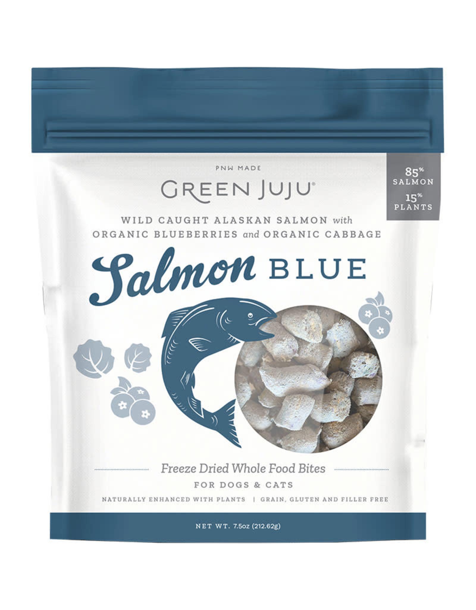 Green Juju Green Juju Salmon Blue Freeze Dried Whole Food Bites for Dogs & Cats