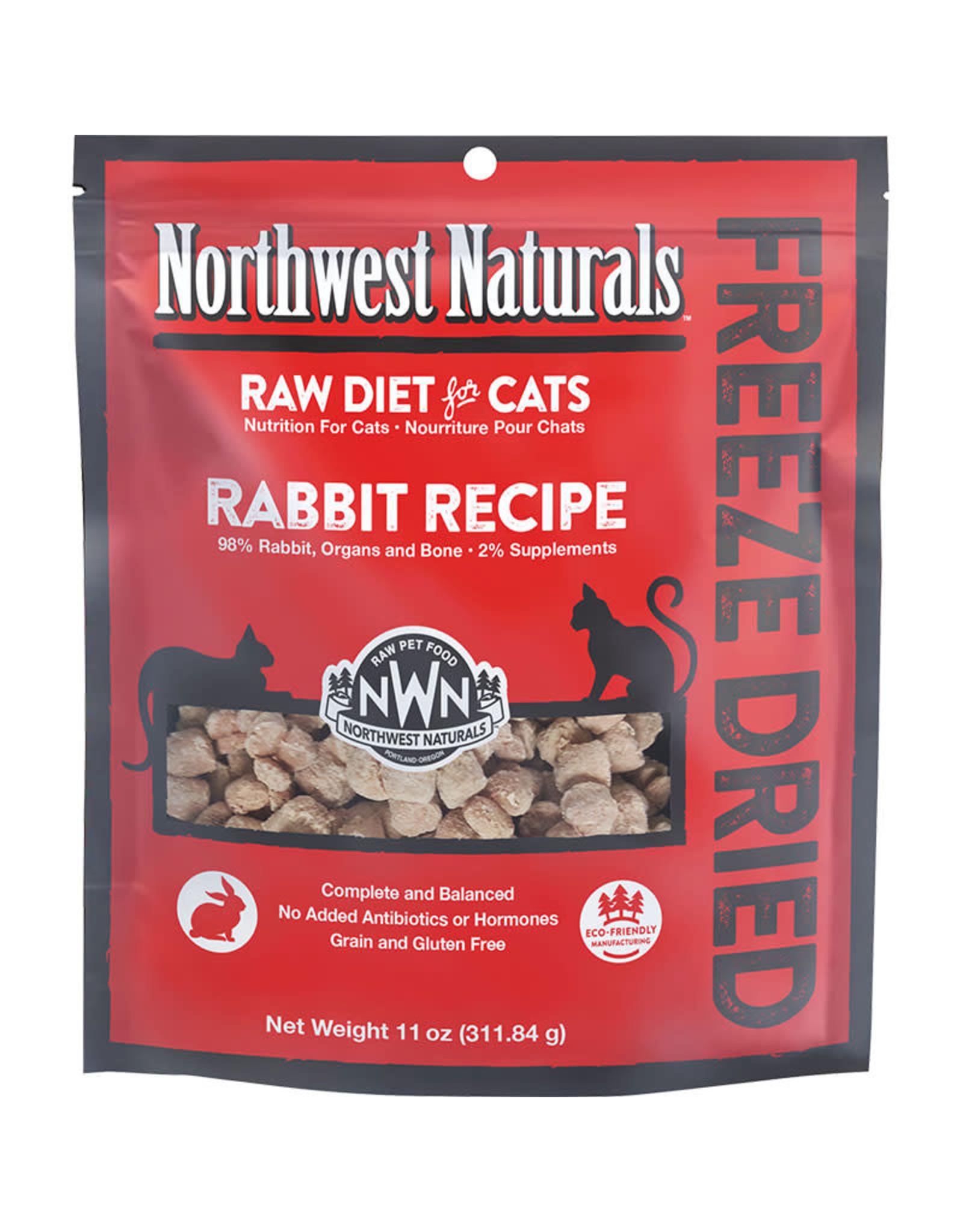 Northwest Naturals Northwest Naturals Raw Diet for Cats Freeze-Dried Rabbit Recipe