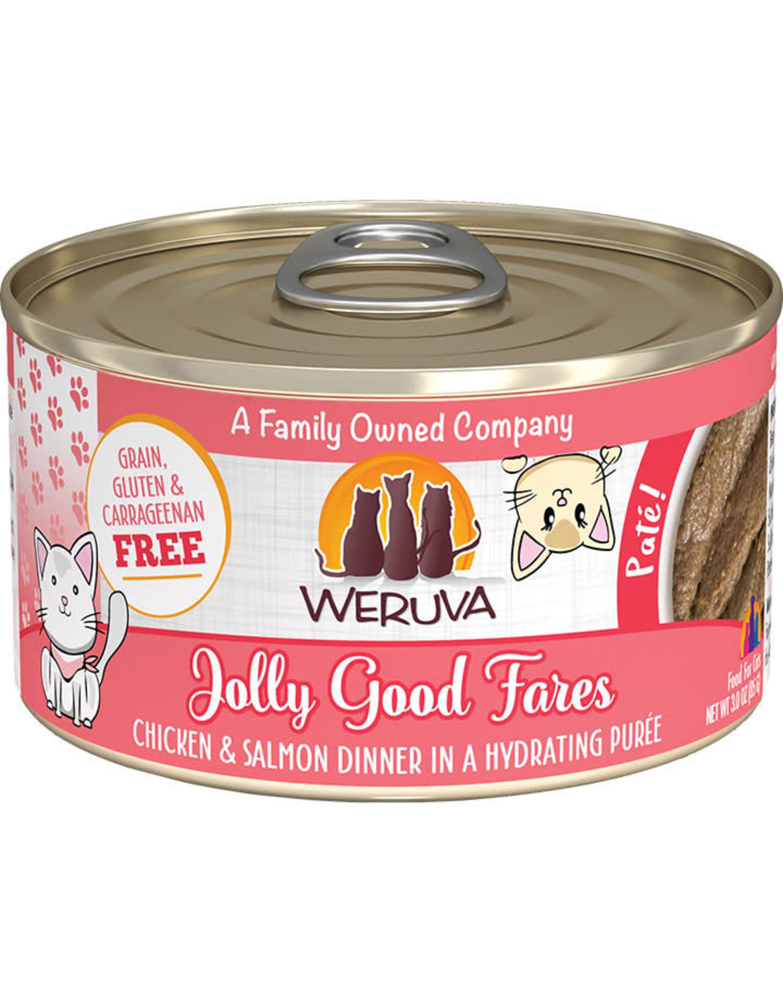 Weruva Weruva Jolly Good Fares Chicken & Salmon Dinner Pate Cat Food 3oz