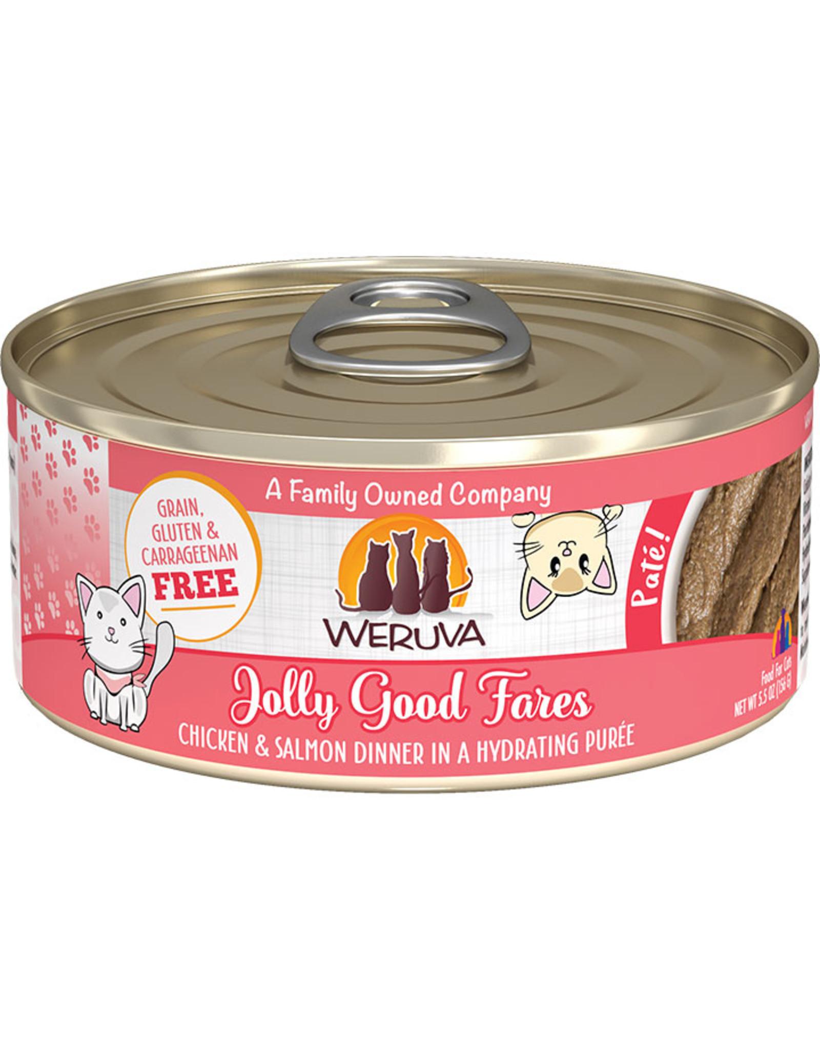Weruva Weruva Jolly Good Fares Chicken & Salmon Dinner Pate Cat Food 5.5oz