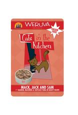 Weruva Weruva Cats in the Kitchen Mack, Jack & Sam Salmon, Tuna & Mackerel in Gravy Cat Food 3oz Pouch