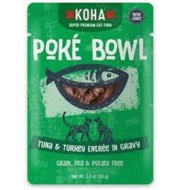 KOHA Koha Poke Bowl Tuna & Turkey Entree in Gravy Cat Food 3oz Pouch