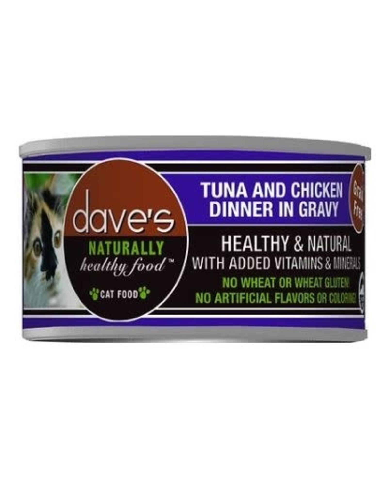 Dave's Pet Food Dave's Tuna & Chicken Dinner in Gravy Cat Food 3oz