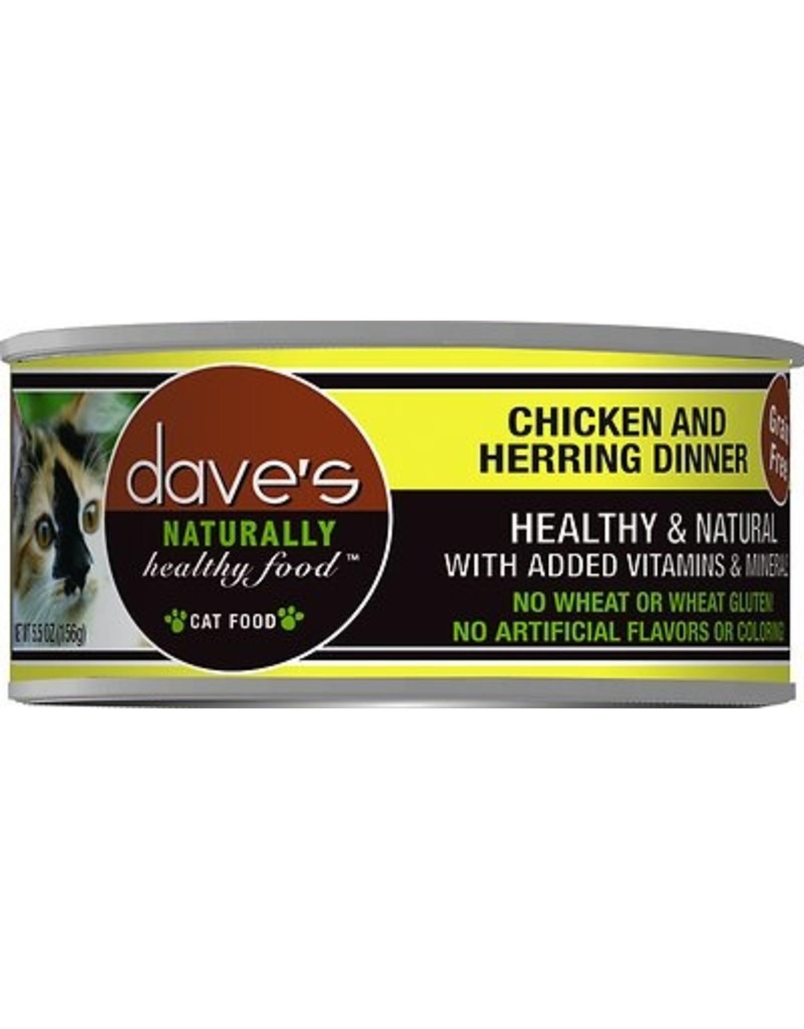 Dave's Pet Food Dave's Chicken & Herring Dinner Cat Food 5.5oz