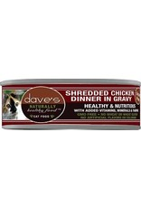 Dave's Pet Food Dave's Shredded Chicken Dinner in Gravy Cat Food. 5.5oz
