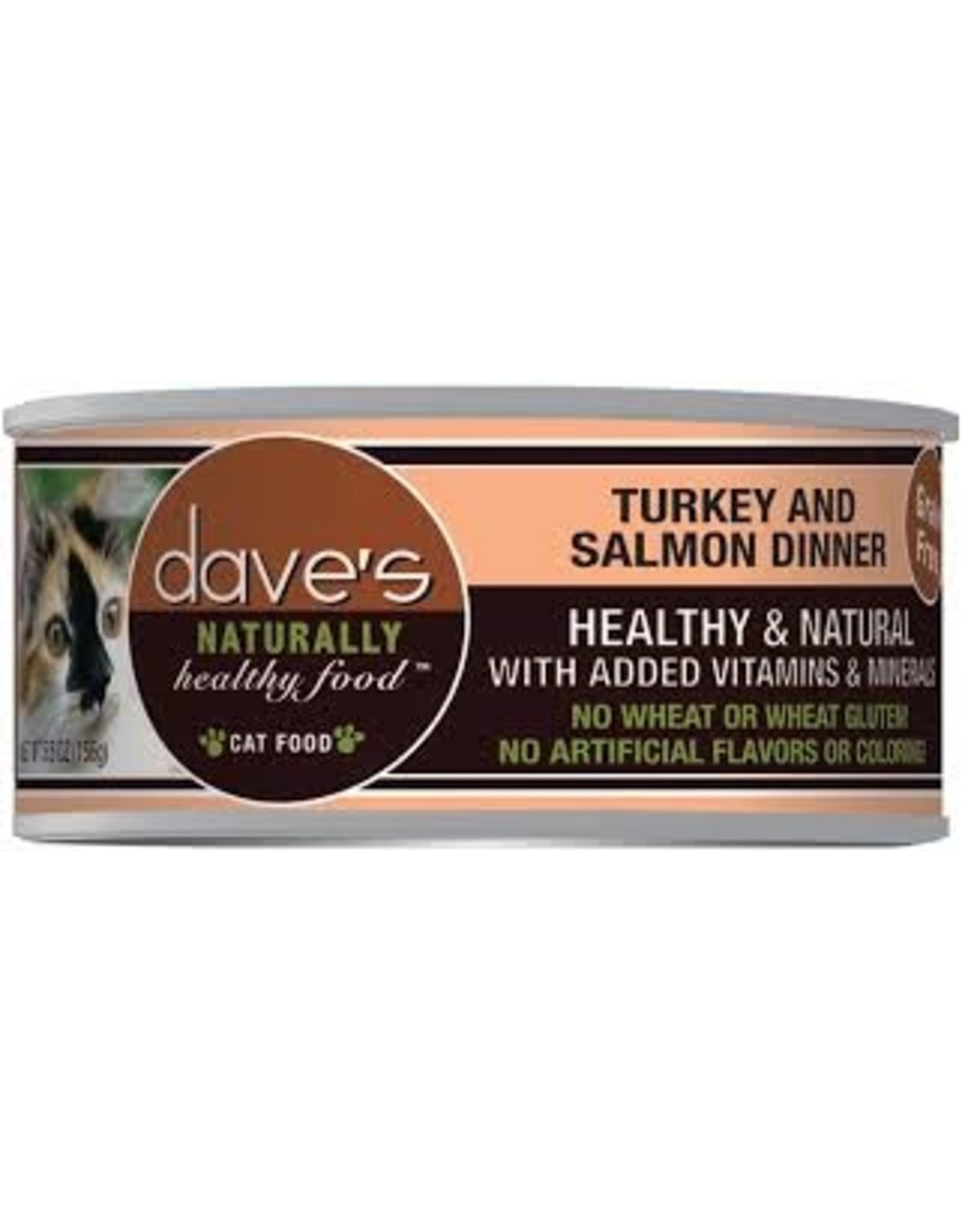 Dave's Pet Food Dave's Turkey & Salmon Dinner Cat Food 5.5oz