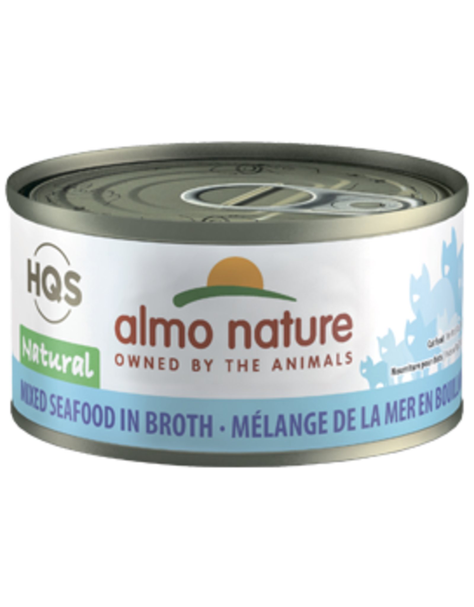 Almo Nature Almo Nature HQS Natural Mixed Seafood in Broth Cat Food 2.47 Oz
