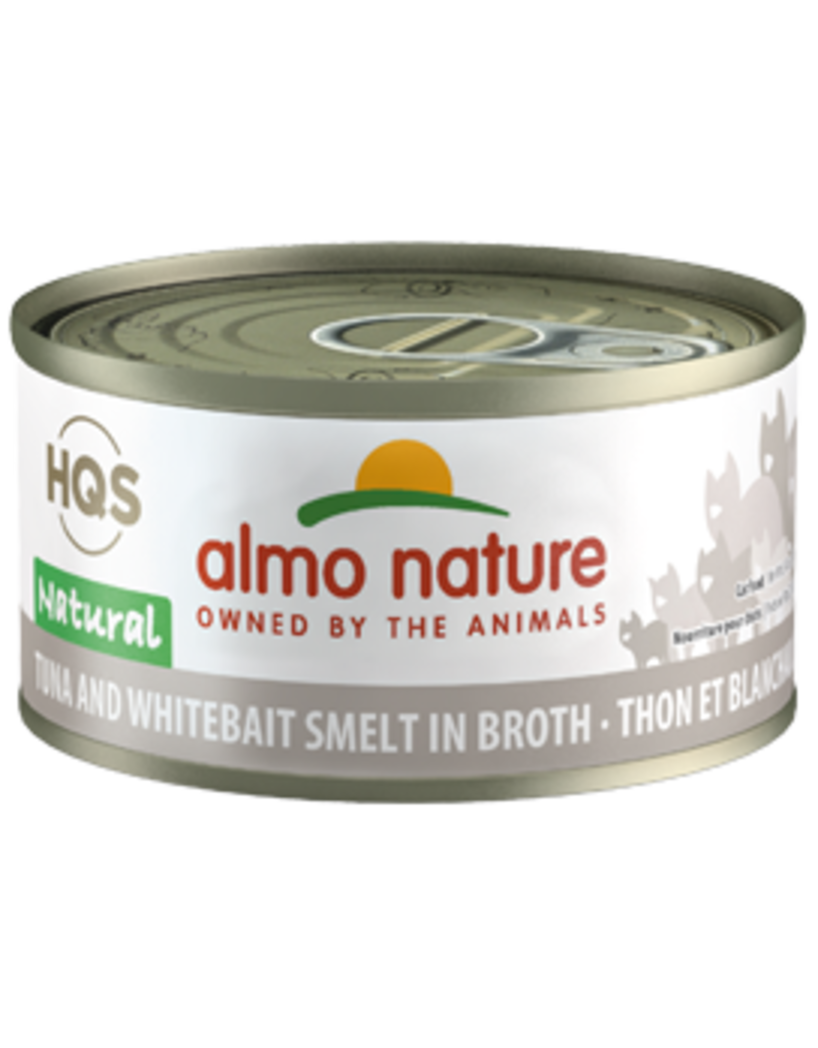Almo Nature Almo Nature HQS Natural Tuna & Whitebait Smelt in Broth Cat Food 2.47 Oz