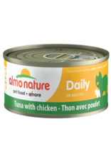 Almo Nature Almo Nature HQS Daily Tuna w/ Chicken in Broth Cat Food 2.47 Oz