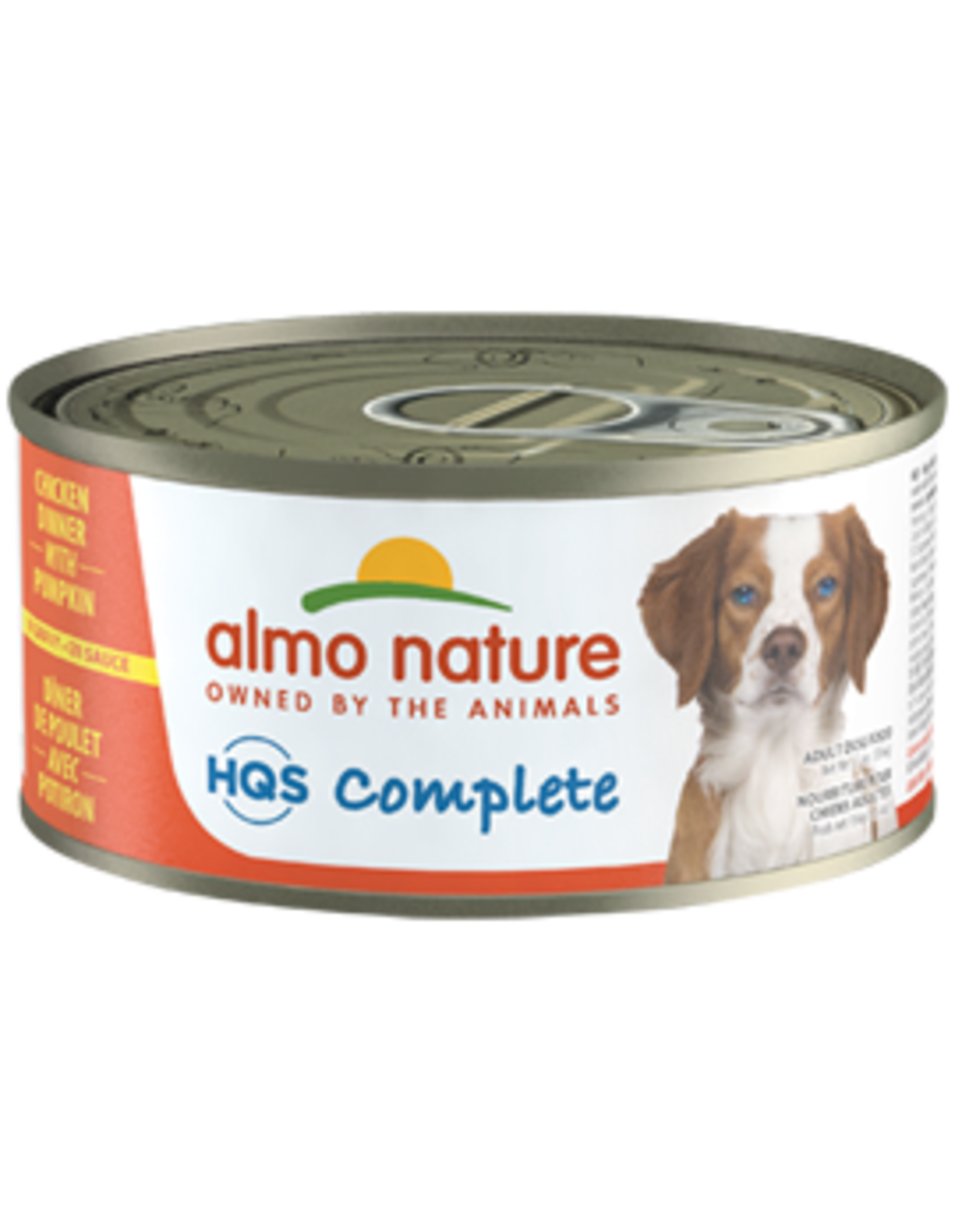 Almo Nature Almo Nature HQS Complete Chicken Dinner w/Pumpkin Dog Food 5.5oz