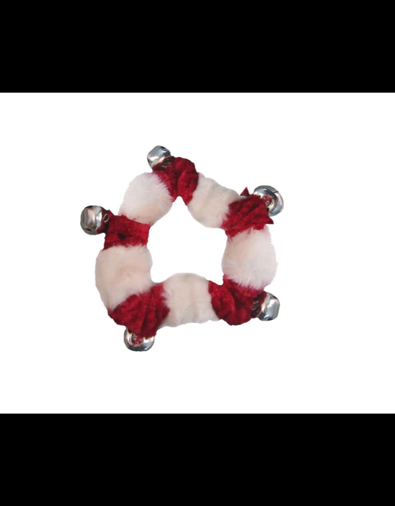 Outward Hound Outward Hound Red Bells Collar w/White Trim MED