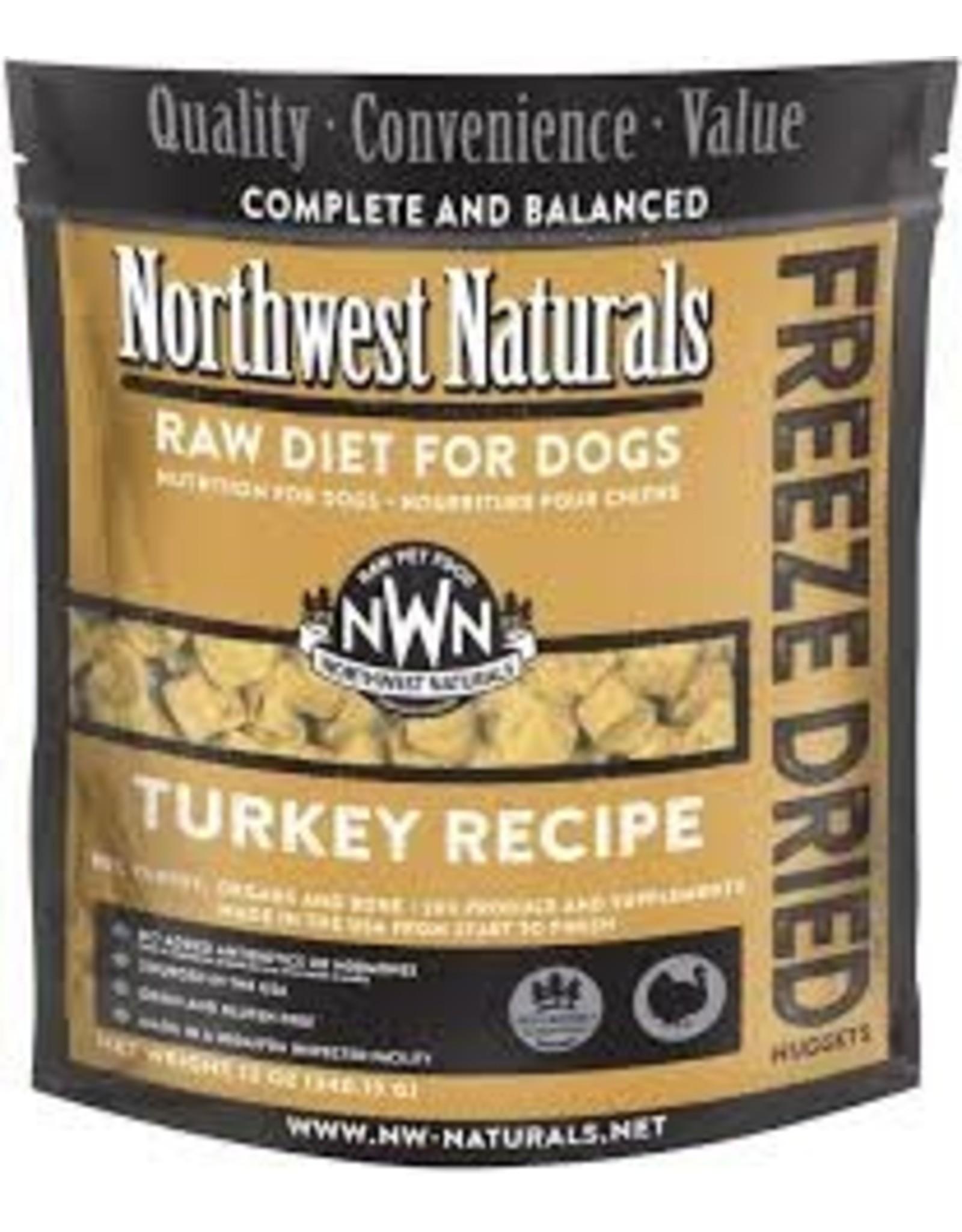 Northwest Naturals Northwest Naturals Raw Diet for Dogs Freeze Dried Nuggets Turkey Recipe 12oz