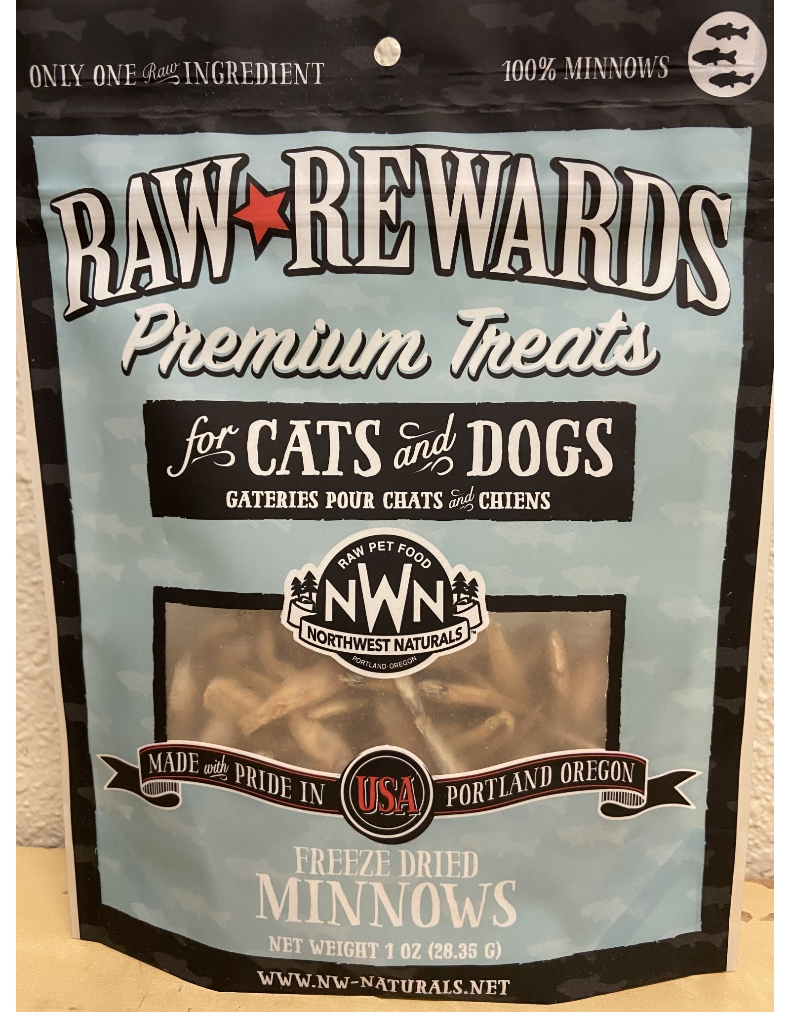 Northwest Naturals Northwest Naturals Premium Treats for Cats & Dogs Freeze Dried Minnows 1oz