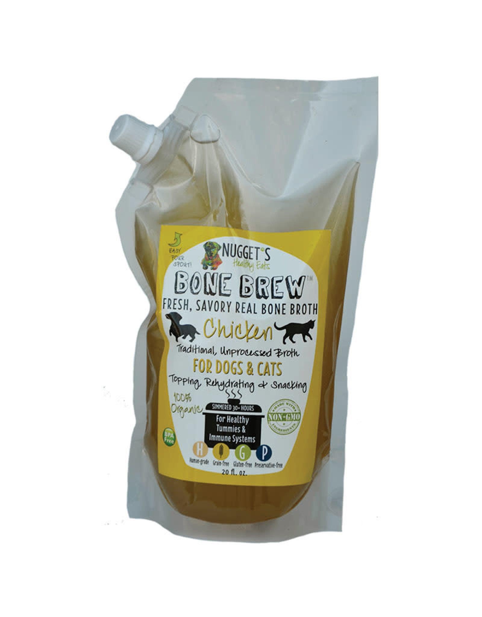 Nuggets Healthy Eats Nuggets Healthy Eats Bone Brew Chicken Bone Broth for Dogs & Cats 20oz