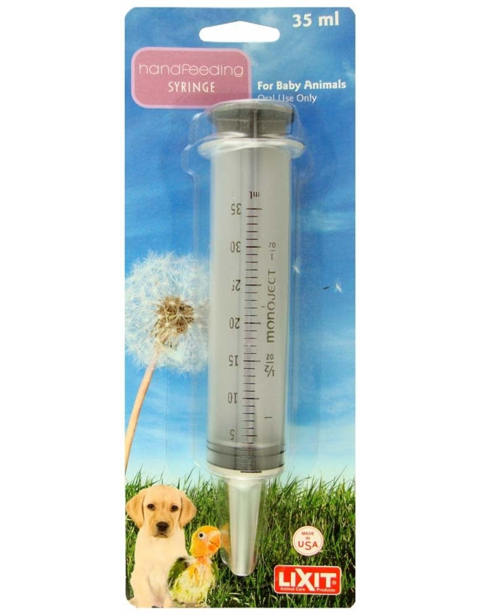 Lixit Hand Feeding Syringe 35cc