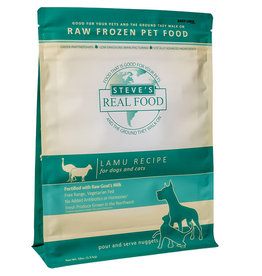 Steve's Real Food Steve's Real Food Lamu  Recipe for Dogs & Cats Nuggets Raw Frozen Pet Food 5lb