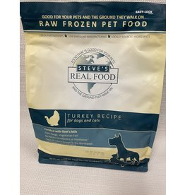 Steve's Real Food Steve's Real Food Turkey Recipe for Dogs & Cats Nuggets Raw Frozen Pet Food 5lb