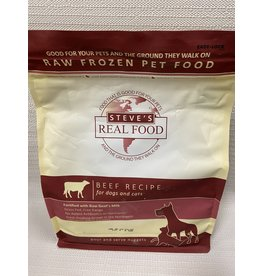 Steve's Real Food Steve's Real Food Beef  Recipe for Dogs & Cats Nuggets Raw Frozen Pet Food 5lb