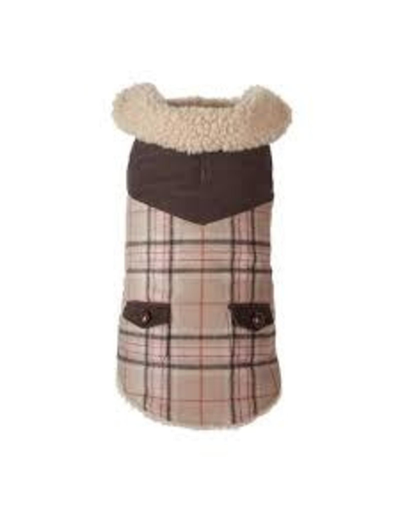 Fab Dog Fabdog Wool Plaid Shearling Dog Coat