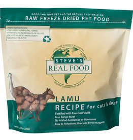 Steve's Real Food Steve's Real Food Freeze-Dried Nuggets Lamu Recipe for Cats & Dogs 1.25lb