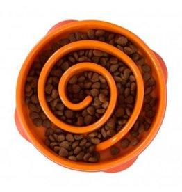 Outward Hound Outward Hound Fun Feeder Slo-Bowl for Dogs - Orange