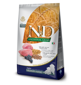 Farmina N&D Farmina N&D Ancestral Grain Lamb & Blueberry Puppy Med/Maxi Dog Food 5.5lb